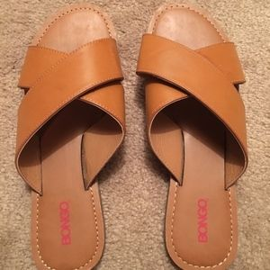 bongo shoes brown leather slides size 9 poshmark
